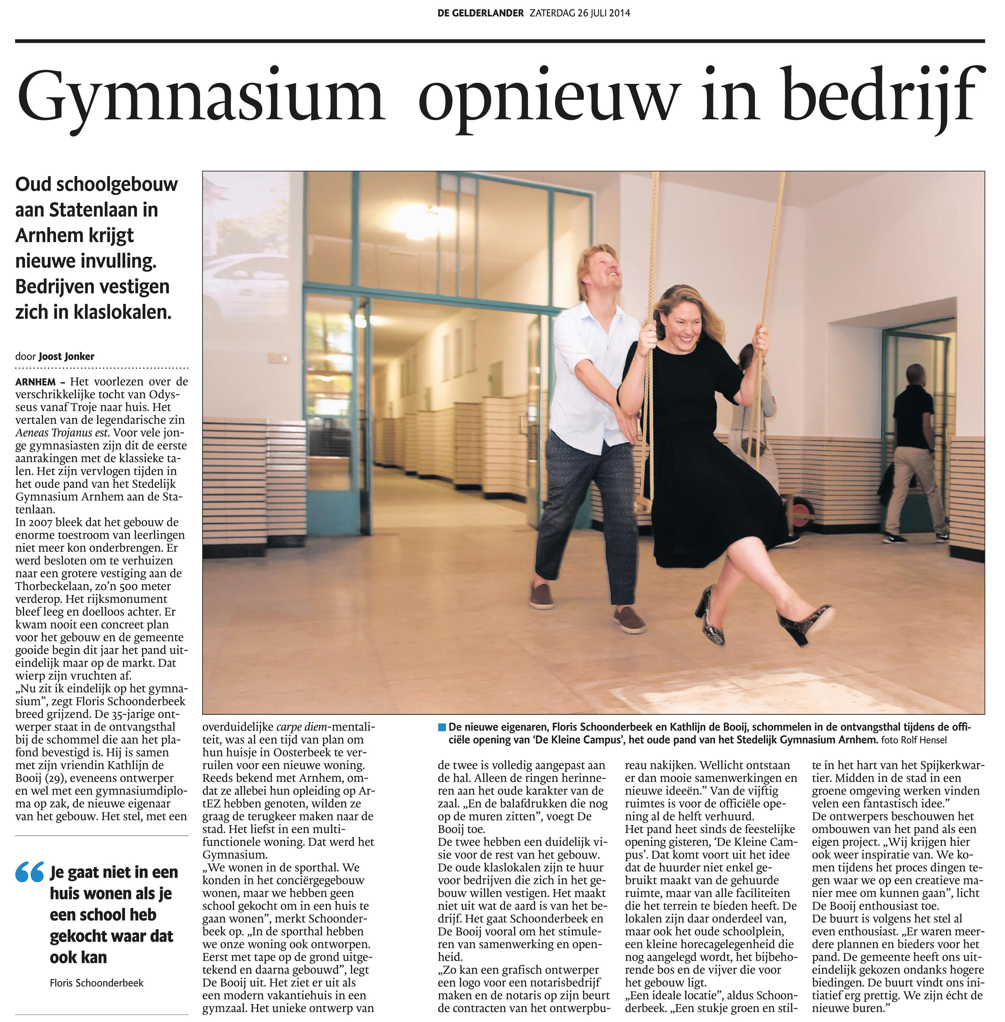 artikel gelderlander 26 juli 2014 digitaal